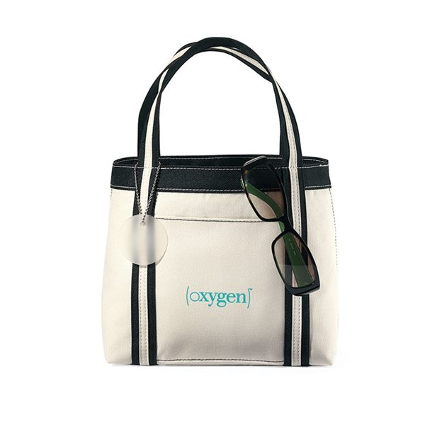 Promotional Natural / Black Polyester Piccolo Mini Tote