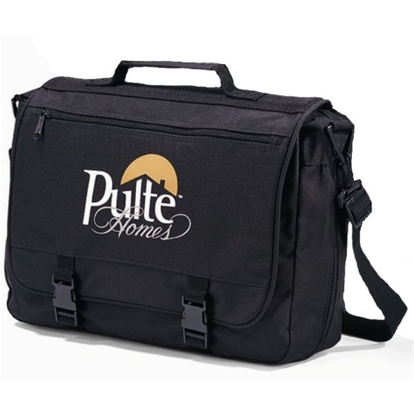 Promotional Polyester Multifunction Gemline Executive Saddlebag Black