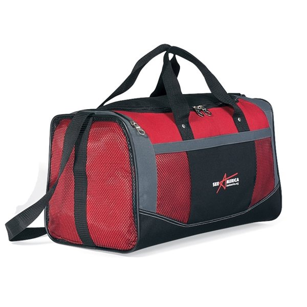 Promotional Red 600D Polyester Flex Bag