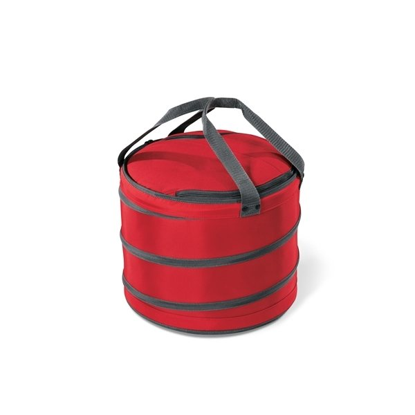 Promotional Polyester 28- Can Capacity Collapsible Party Cooler Bag Red