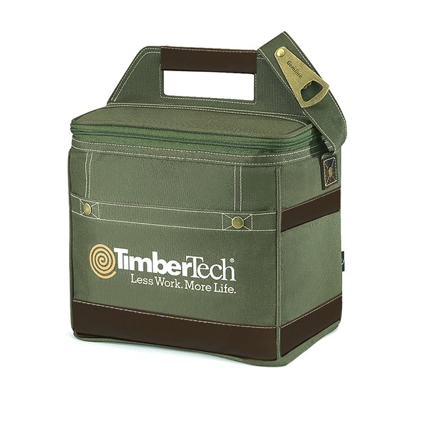 Promotional Polyester 18- Can Capacity Loden Precision Bottle Cooler Bag