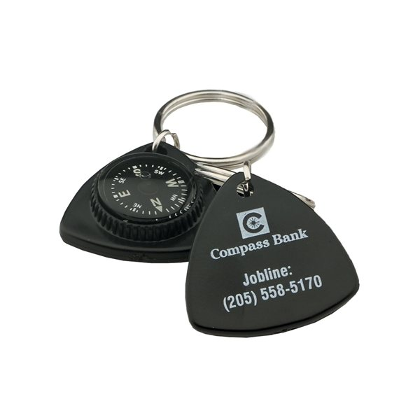 Promotional Triangle Compass Key Chain