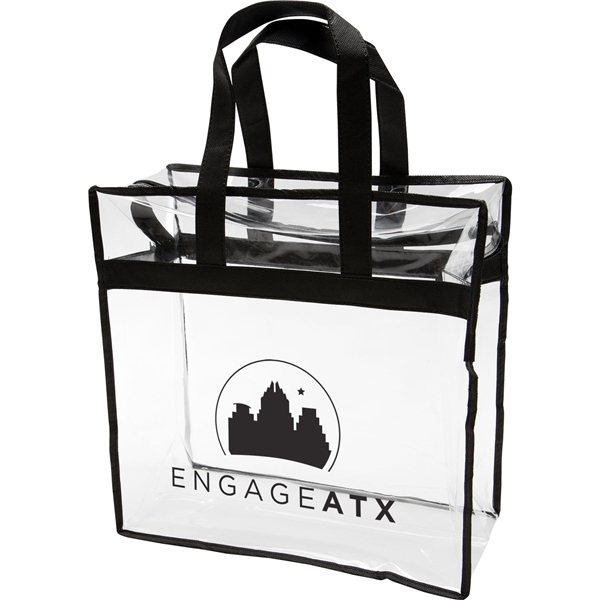 Promotional Clear PVC Zipper Tote
