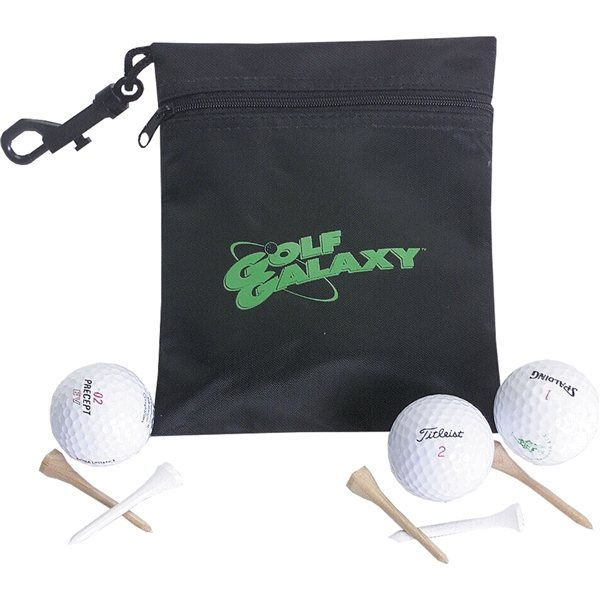 Promotional Black Golf Ditty Pouch