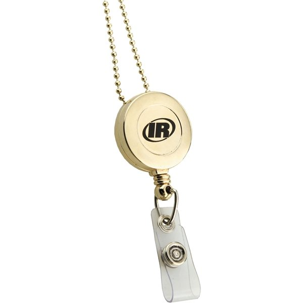 Promotional Retractable Badge Reel Gold