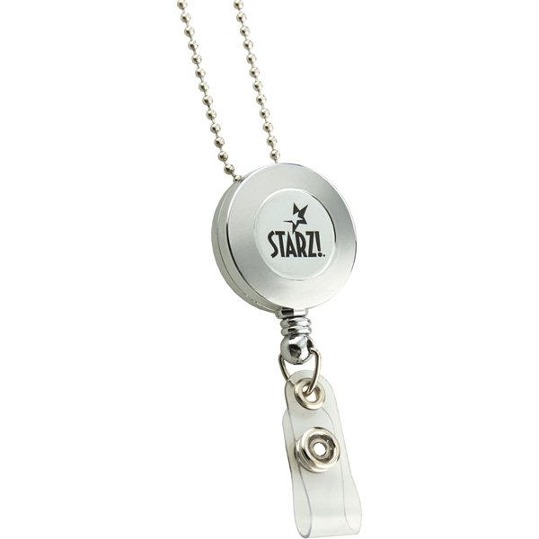 Promotional Retractable Badge Reel Silver