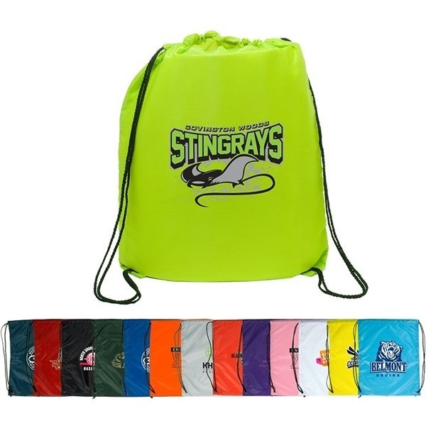 Promotional Polyester Multi Color String - A - Sling Backpack 15 X 18