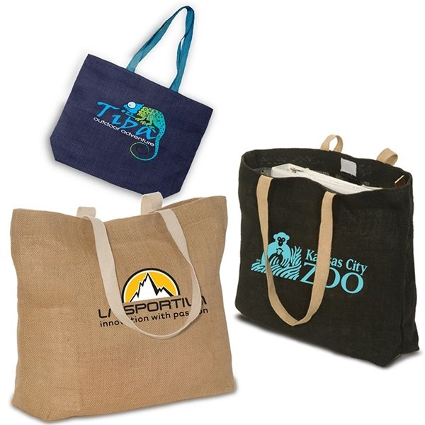 Promotional Eco - Green Jute Tote