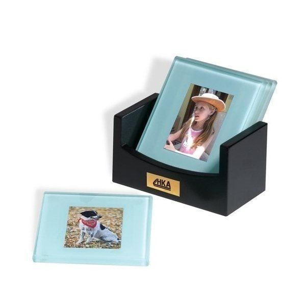 Promotional Atrium(TM) Glass Photo Coaster Set