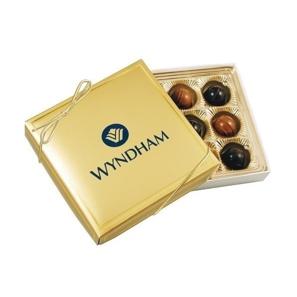 Promotional 9 Chocolate Truffle Gift Box