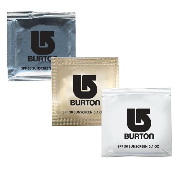 Promotional Small Sunscreen Packets SPF30 (USA MADE)