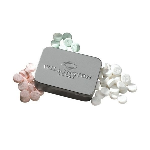 Promotional Embossed Large Mint Tin with Mints