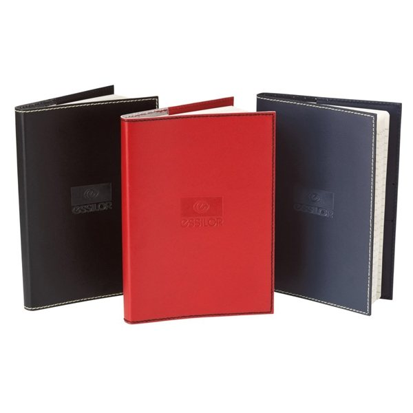 Promotional Primetime Refillable Leather Journal - 5 1/2 x 7 1/2