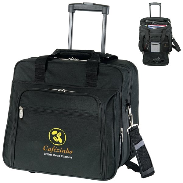 Promotional Wheeled Polyester Briefcase