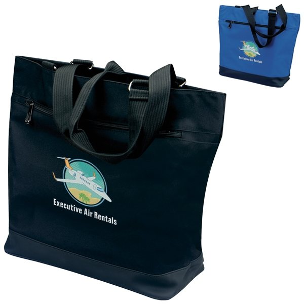 Promotional 300D Micropoly Plaza Tote Bag