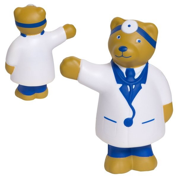 Promotional Doctor Bear - Stress Relievers