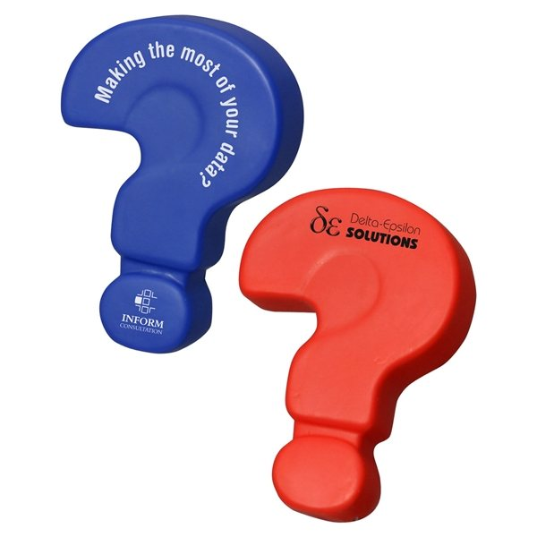Promotional Question Mark - Stress Relievers