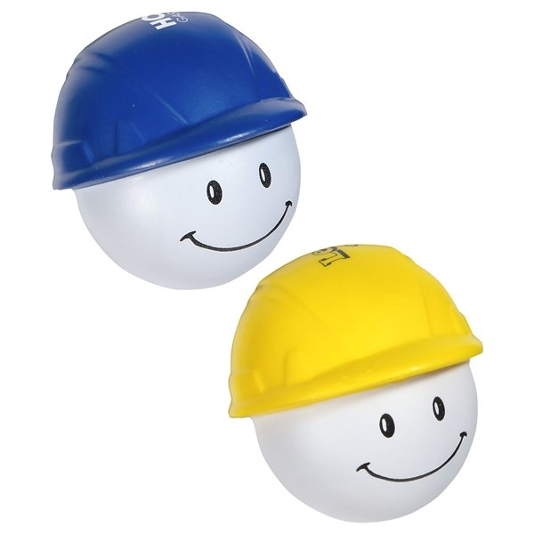 Promotional Hard Hat Mad Cap - Stress Relievers