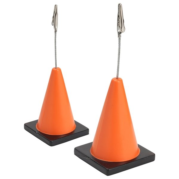 Promotional Construction Cone Memo Holder - Stress Relievers