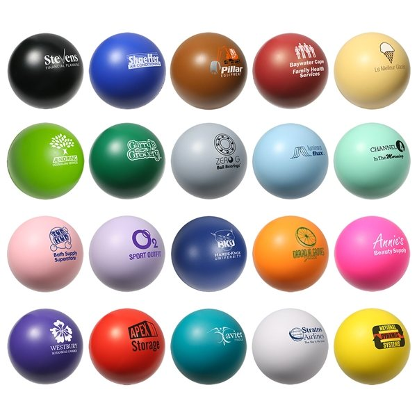 Promotional Solid Color Ball Stress Reliever