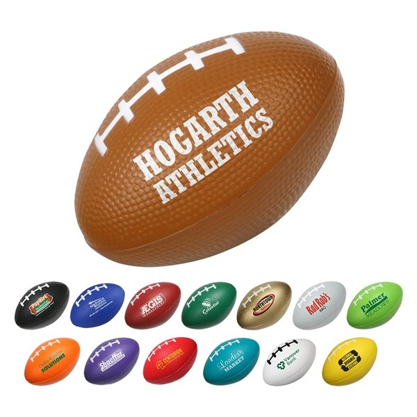 Promotional Custom Football Stress Ball With Multi Color Choices