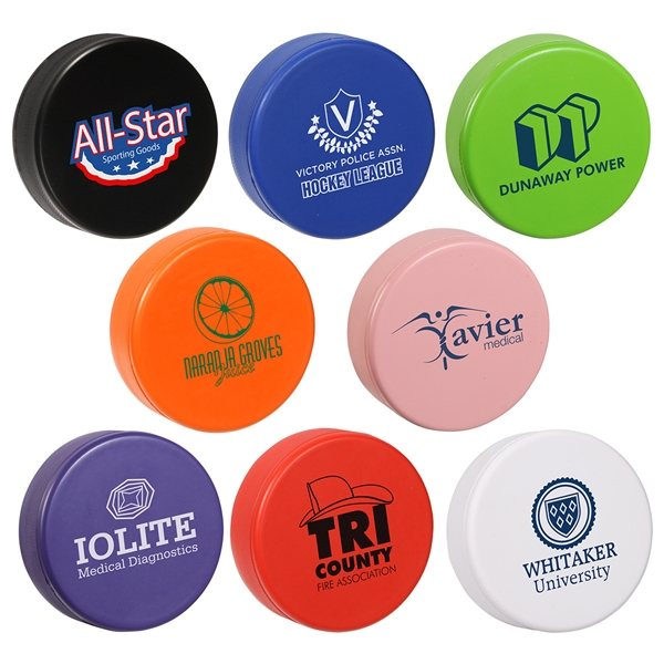 Promotional Hockey Puck Stress Reliever