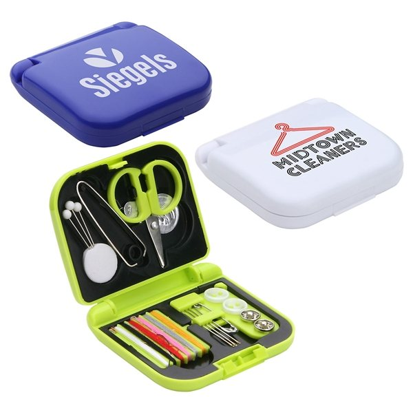Promotional Travel Sewing Kit with 6 thread colors