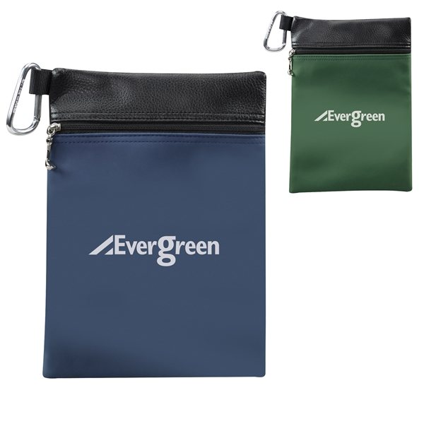 Promotional Gold Tee Pouch with Clip