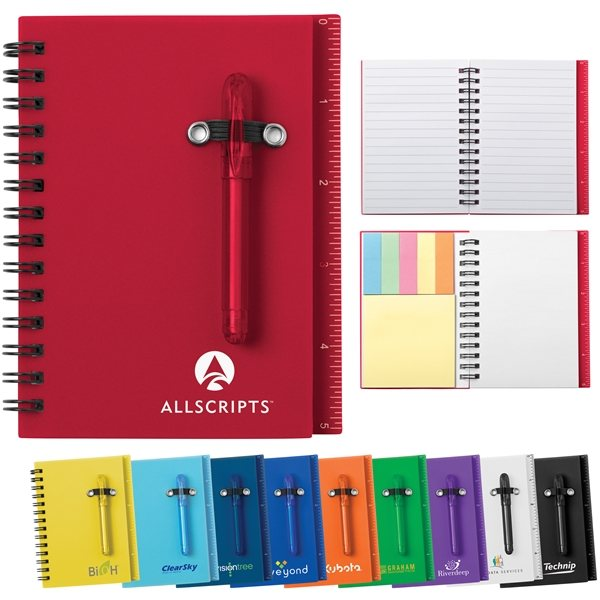 Promotional 4 X 5 50 Lined All - In - One Mini Notebook