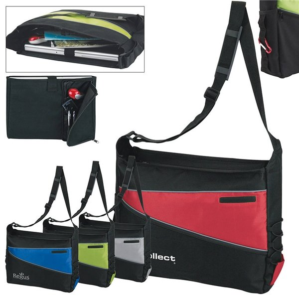 Promotional 2- Tone Computer Messenger Bag