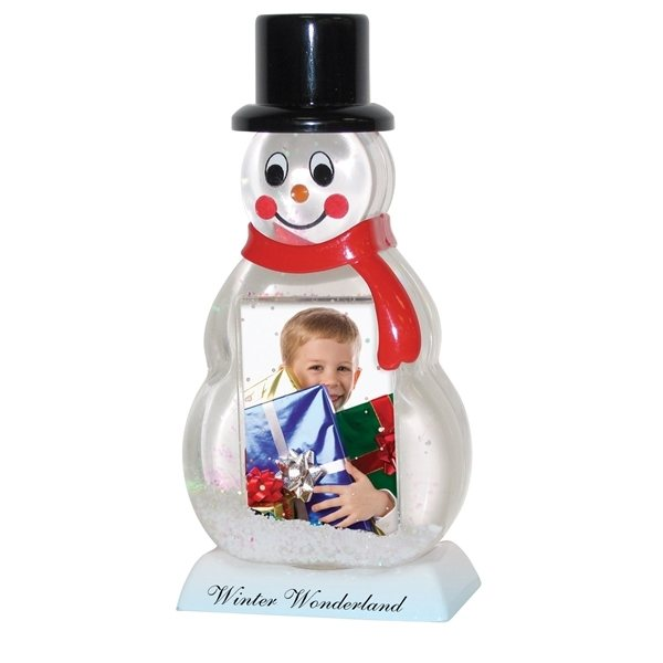 Promotional Snowman Snow Globe with Photo Insert