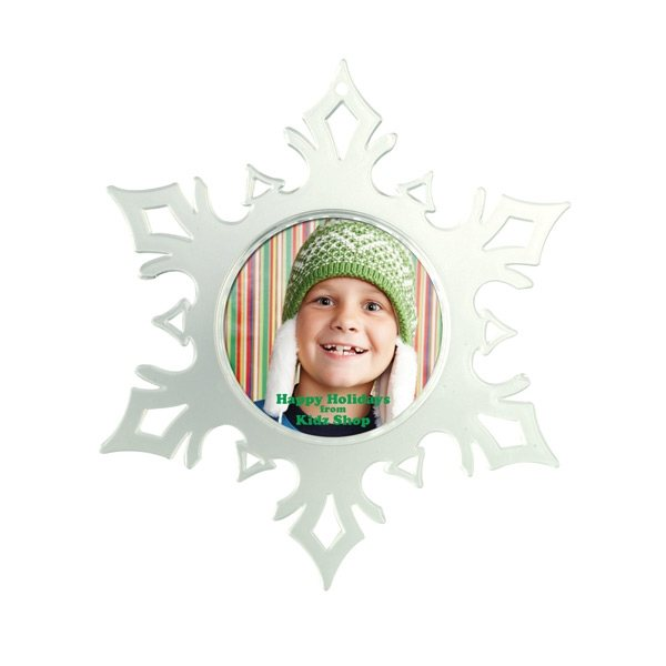 Promotional Snap - In Snowflake Picture Ornament Flare Tips