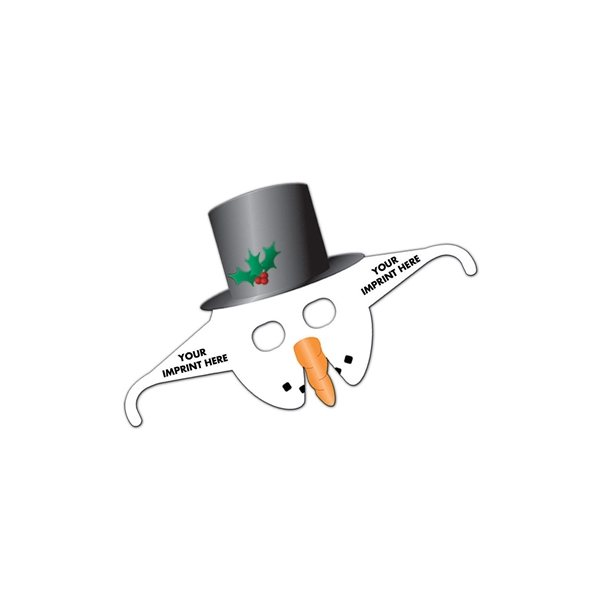 Promotional Snowman Mask Glasses - Paper Products
