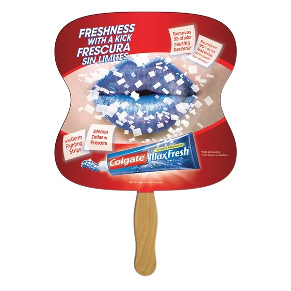 Promotional Hourglass Stock Shape Fan - Paper Products