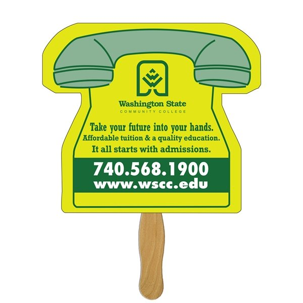 Promotional Phone Stock Shape Fan - Paper Products