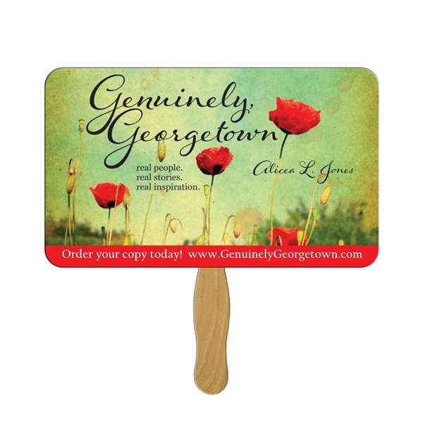 Promotional Rectangle Stock Shape Fan - Paper Products