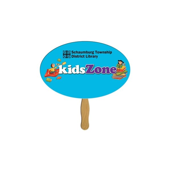 Promotional Oval Stock Shape Fan - Paper Products