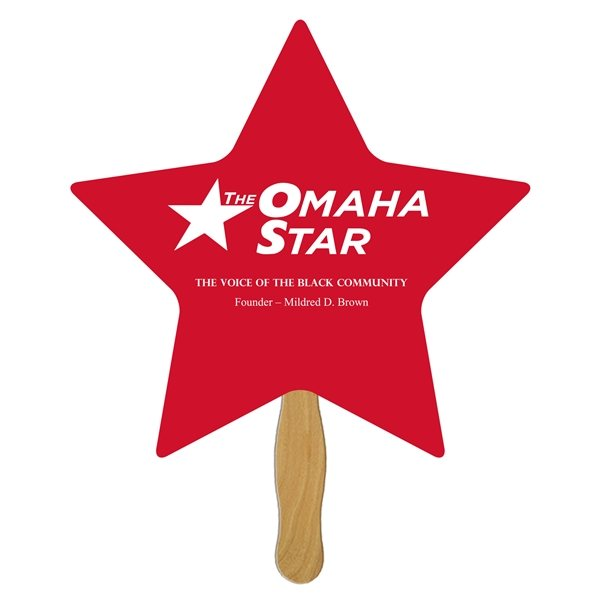 Promotional Star Stock Shape Fan - Paper Products