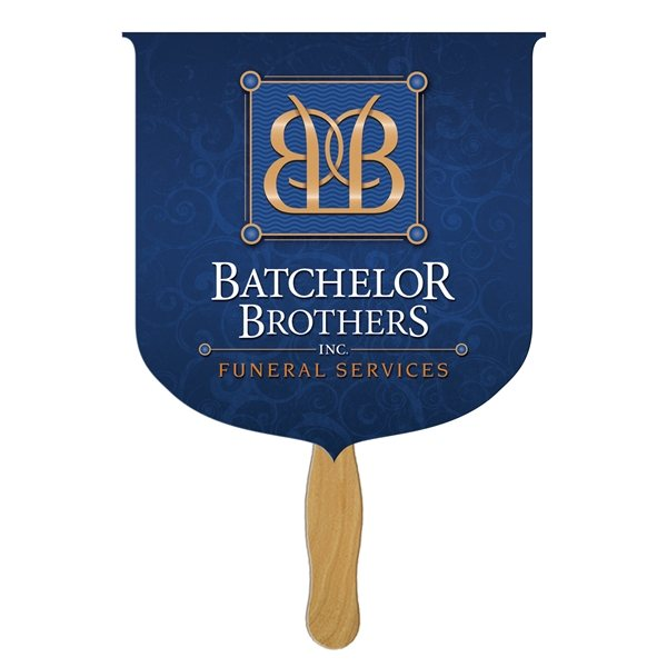 Promotional Coat Of Arms Stock Shape Fan - Paper Products