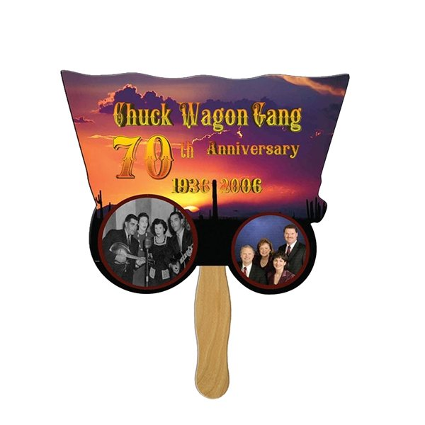 Promotional Wagon Stock Shape Fan - Paper Products