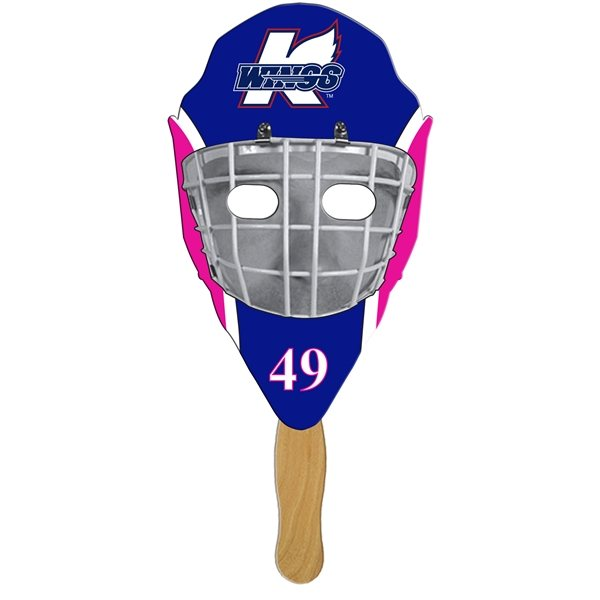 Promotional Hockey Mask Stock Shape Fan - Paper Products