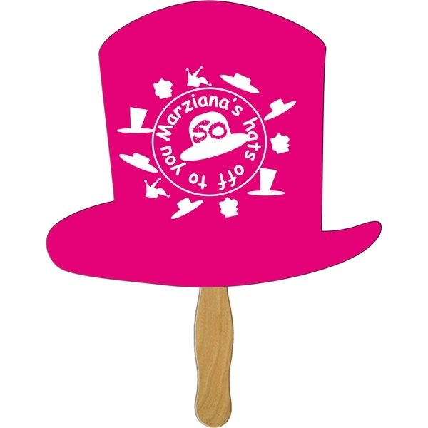 Promotional Top Hat Stock Shape Fan - Paper Products