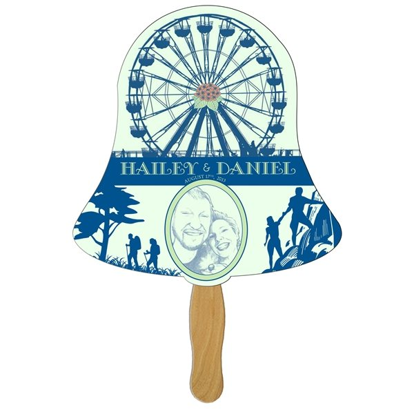 Promotional Bell Stock Shape Fan - Paper Products