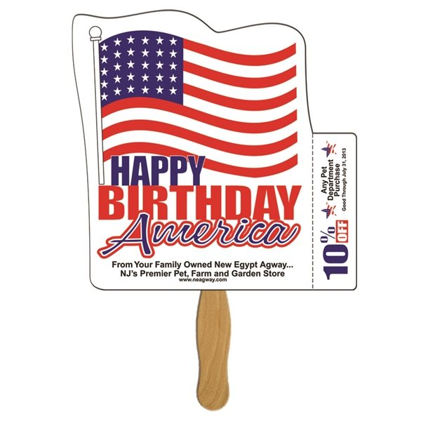 Promotional Flag Coupon Fan - Paper Products