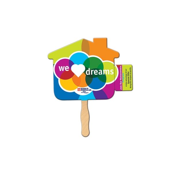 Promotional House Coupon Fan - Paper Products