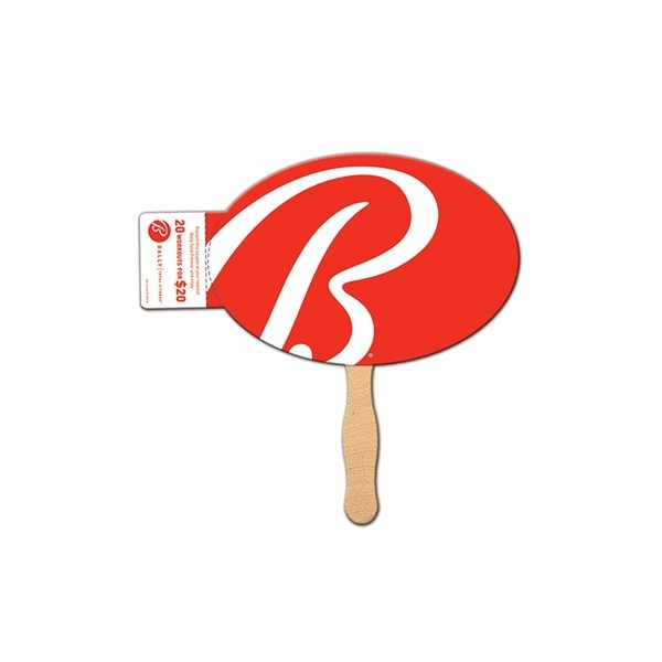 Promotional Oval Coupon Fan - Paper Products