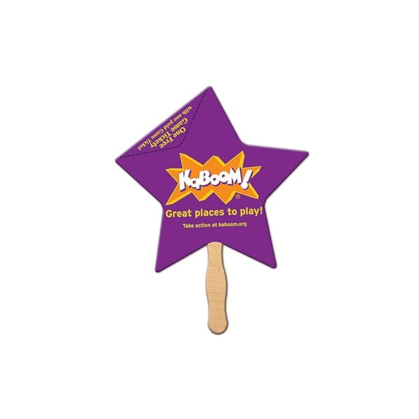 Promotional Star Coupon Fan - Paper Products