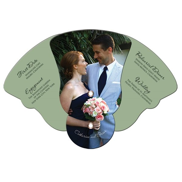 Promotional Four Part Expandable Bell Hand Fan - Paper Products