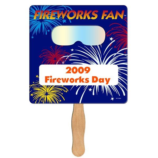 Promotional Square Fireworks Fan - Paper Products