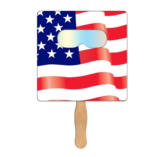 Promotional Square Flag Fireworks Fan - Paper Products